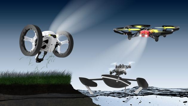 13 новых дронов Parrot – летай, прыгай, плавай
