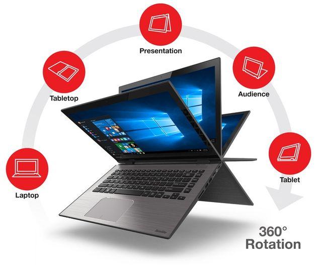 Toshiba Radius 14 – ноутбук-трансформер с Core i7 или AMD APU