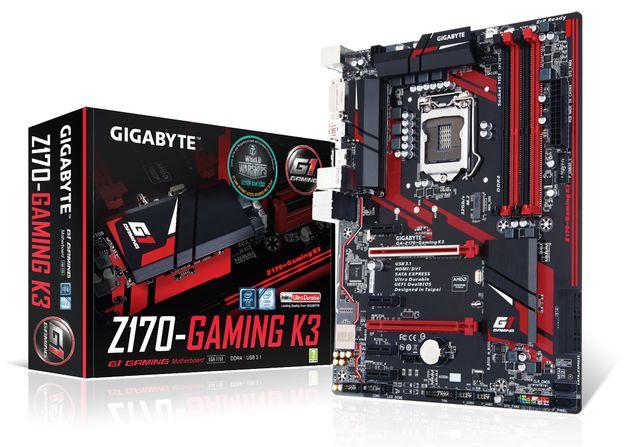 Gigabyte объявила о производстве платы GA-Z170-Gaming K3 для геймеров