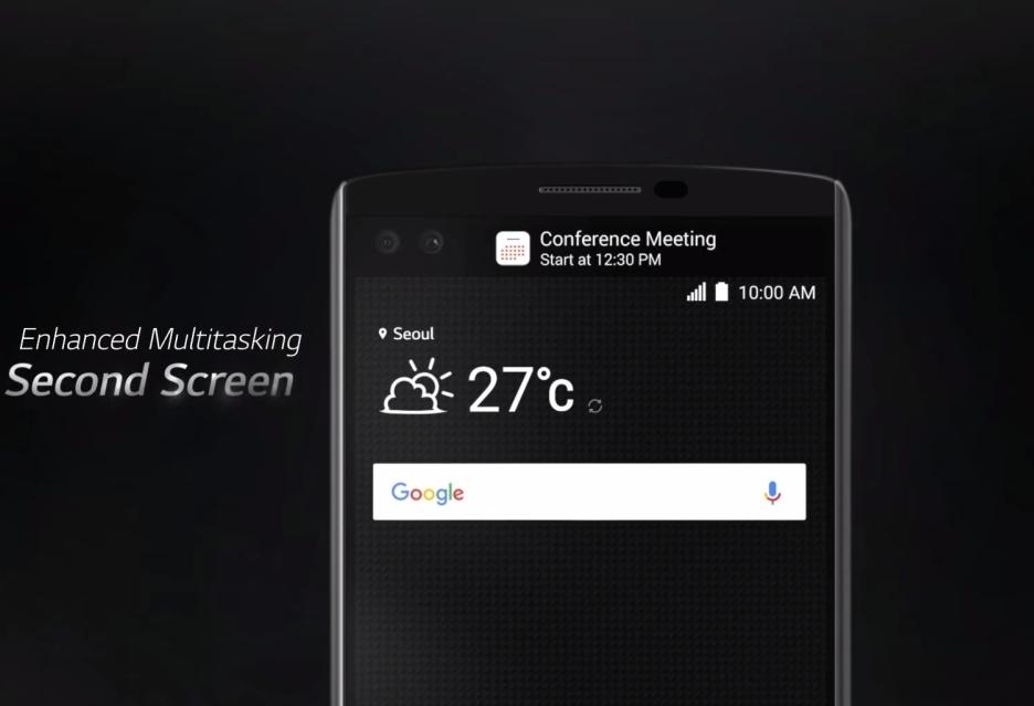 LG G5 получит два дисплея. Показ смартфона состоится на MWC 2016