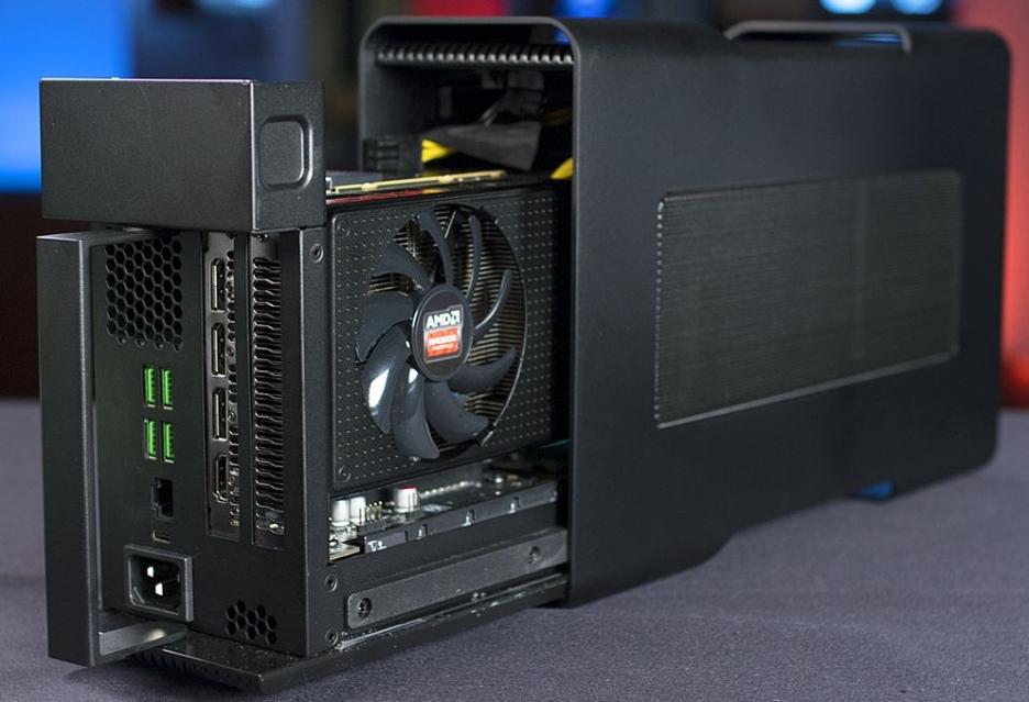 AMD раскрыла подробности универсального подключения видеокарт к ноутбукам