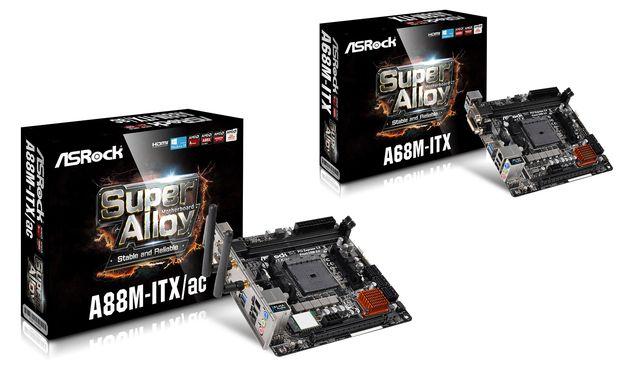 ASRock A88M-ITX/ac и A68M-ITX: две миниатюрные платы для AMD