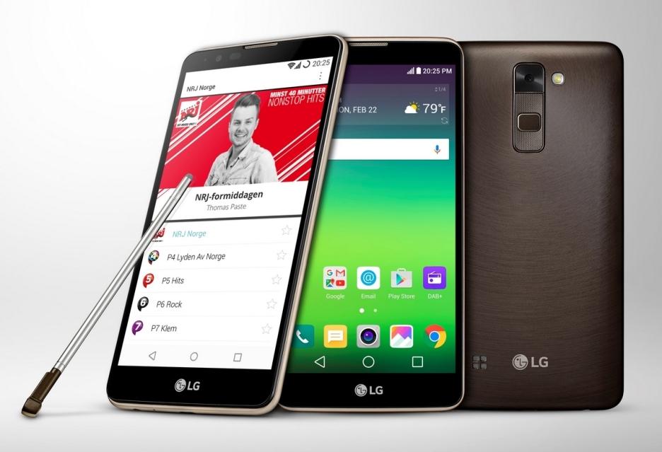Технические характеристики LG Stylus 2 с функцией DAB+