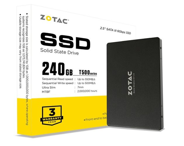 Zotac расширила линейку SSD дисков дешевой моделью на 240 Гбайт